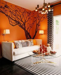 Dare colore al soggiorno? Scegli l\'arancione | ArredandoCasa