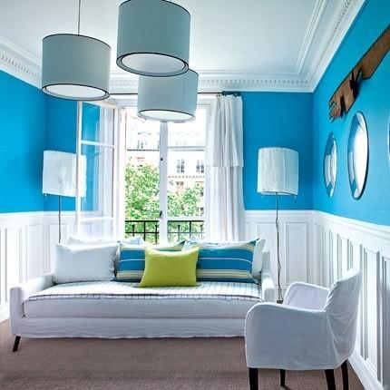 i colori giusti per un soggiorno allegro e vitale | arredandocasa - Soggiorno Azzurro