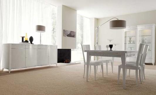 La zona pranzo arredata di bianco idee per la tua casa for Mobile sala da pranzo moderno